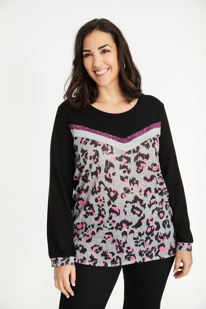 KNIT ANIMAL NEON JUMPER