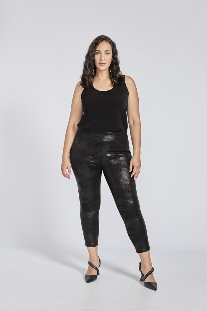 FAUX-LEATHER ROCK TROUSERS